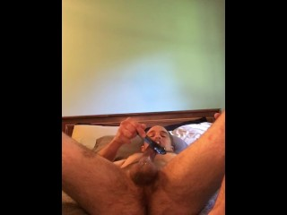 Vintage dildo ass, autoblow cock