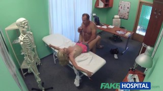 Blonde playing with pussy skinny toy fakehospital caught patient her hospital blonde