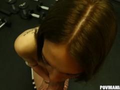 Latina babe Mila Blaze sucking cock at POVManiaXXX