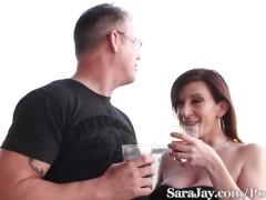Sara Jay fucks her Date in Vegas for facial!