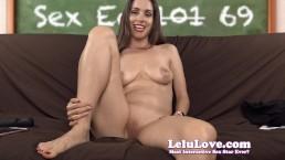 Lelu Love-Sex Ed Teacher Masturbates To Orgasm