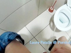 Naughty public pissing toilet piss school bathroom - Laura Fatalle