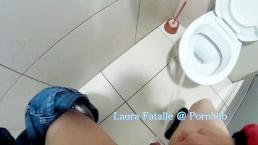 Naughty public pissing toilet piss school bathroom - Laura Fatalle