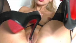 High heels fucking Wet pussy and Squirt
