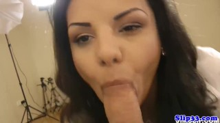 Eurobabe blows geriatric berfore riding cock Teen loud