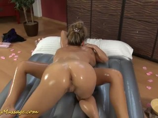 slippery massage sex