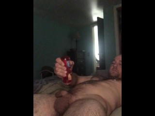 Oiled chest and dick rub