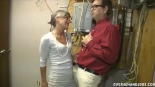 Man jerking granny old an reality over40handjobs