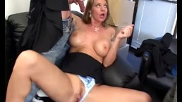 Angry Boss Kayla Quinn Fucks Two Insubordinate Employees