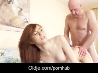 Step old dad fuck wakeup call from young mistress horny for mouth cumshot