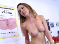 Brazzers - Sophie Dee Has Her Ass Oiled Up And Then Gets Double Teamed