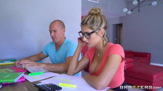Brazzers - Sexy nerd August Ames needs a study break  teen glasses booty blowjob huge-cock big-boobs brazzers nerd oiled young shaved tight fingering big-dick spit teenager