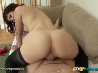 POVPerverts.com – Petite Yhivi Sucks Three Cocks and Fucks Like a Good Slut