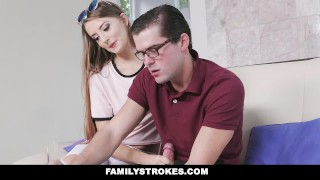 FamilyStrokes - Nerdy Step-Bro Fucked Me For Homework  step-brother cumshot seduce hardcore brunette familystrokes step-sister shaved step-sis bigcock facialize step-sibling facial doggystyle avery adair smallttis
