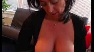 Sexy livingroom stepmom couch fucking in redhead my big boobs