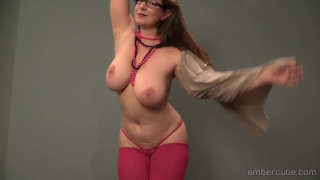 amber strip dance 1080p Pigtail rough