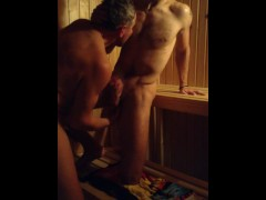 Straight Guys Fucking in Sauna