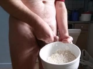 Cum at pizza butt - special recipe / recette spéciale pizza alla sperma