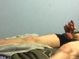 Cumming in waterbed from a 2-hour edging session
