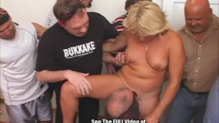 Wife slut blonde hole gangbang fuck anal three pie hole