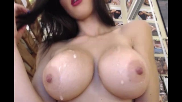 Fake breast models Very hot crystal knight spits on tits - breasts boobs worship spit fetish