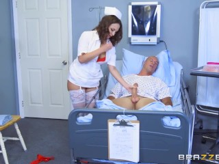Porno Anal Tube Naughty nurse Lily Love fucks her patient - Brazzers