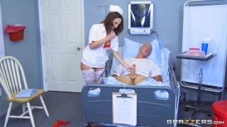 Naughty nurse Lily Love fucks her patient - Brazzers