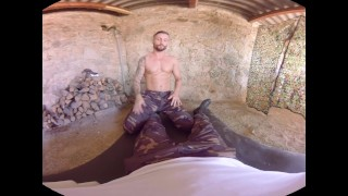 Virtualrealgay army bareback blowjob outside