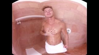 VirtualRealGay - Cold shower Jerking skinny