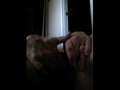 Milf plays with her massive clit and dripping pussy