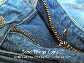 """Good things come...erotic audio for anyone who doesn't have a 12"""" dick :P"""