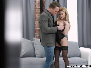 Preview 2 of Young Courtesans - Sex date in a boudoir