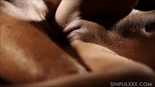 Wet having couple sex cowgirl natural