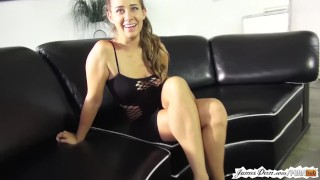 Upskirt pussy flashing with cassidy klein behind the scenes on porn set