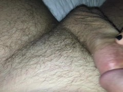 Jacking Off To Wife's Black Pedicure And Playful Toes