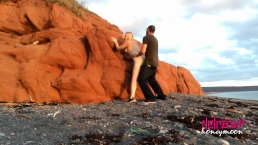 Amateur Couple Honeymoon Sex On The Beach (Nova Scotia)