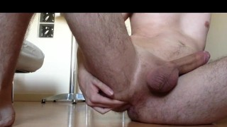 Young student cumshot and massive dildo creampie
