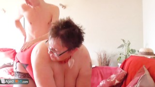 Gardener Sam Bourne fucks old bbw granny Bbwbadgirls boobs