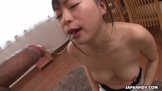 Nozomi slobbering all over the fella's rock hard dick Doggystyle tittyfuck