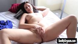 Busty Sasha Toying Her Pussy