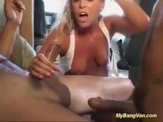 stepmom picked up for bangvan orgy