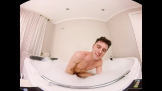 VirtualRealGay.com - Alone in jacuzzi