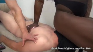EroticMuscleVideos BrandiMae and Miss Treasure Train Slave To LOVE Cuckold  big clit bdsm cuckold femdom fitness fetish bigtits kink eroticmusclevideos fbb muscle big boobs female bodybuilder