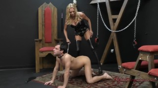 Briana Banks Femdom german ass-licking femdom meandungeon kink blonde dungeon domme slave asslicking assworship tattoo bdsm mistress big-tits boots stockings