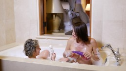 Jillian Foxxx and Masha BATH TUB play