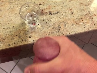 Cumming In A Shot Glass For My Girlfriend