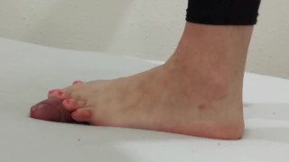 kink cbt cockcrush cock-crush crush cockbox barefeet trample trampling footjob footplay big-feet