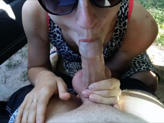 Outdoor blowjob in car by amateur24