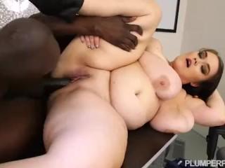 Busty Boss Lisa Canon Fucks Big Black Coworker