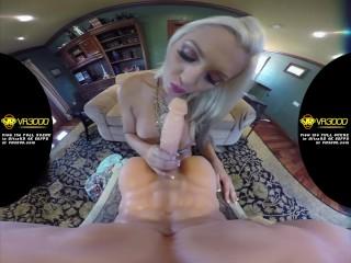Stroking Huge Cock Fucking, Sex Video Big Tits Blonde Toys Virtual Reality 60FPs Voyeur